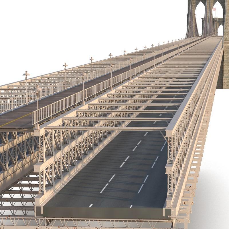 suspension bridge 3d model turbosquid
