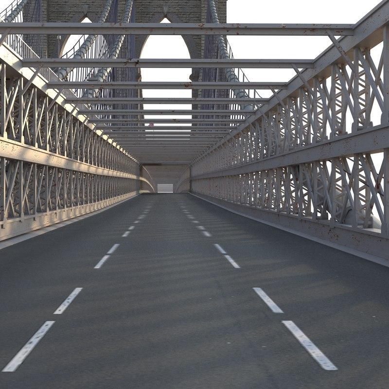 bridge that connects Manhattan and Brooklyn 3d model turbosquid