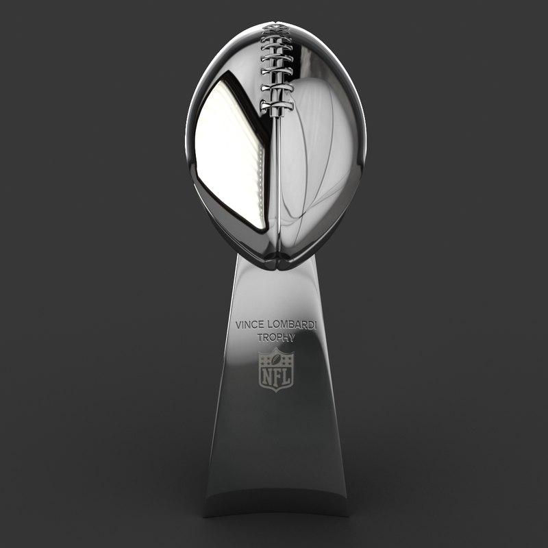 nfl trophy 3d model turbosquid