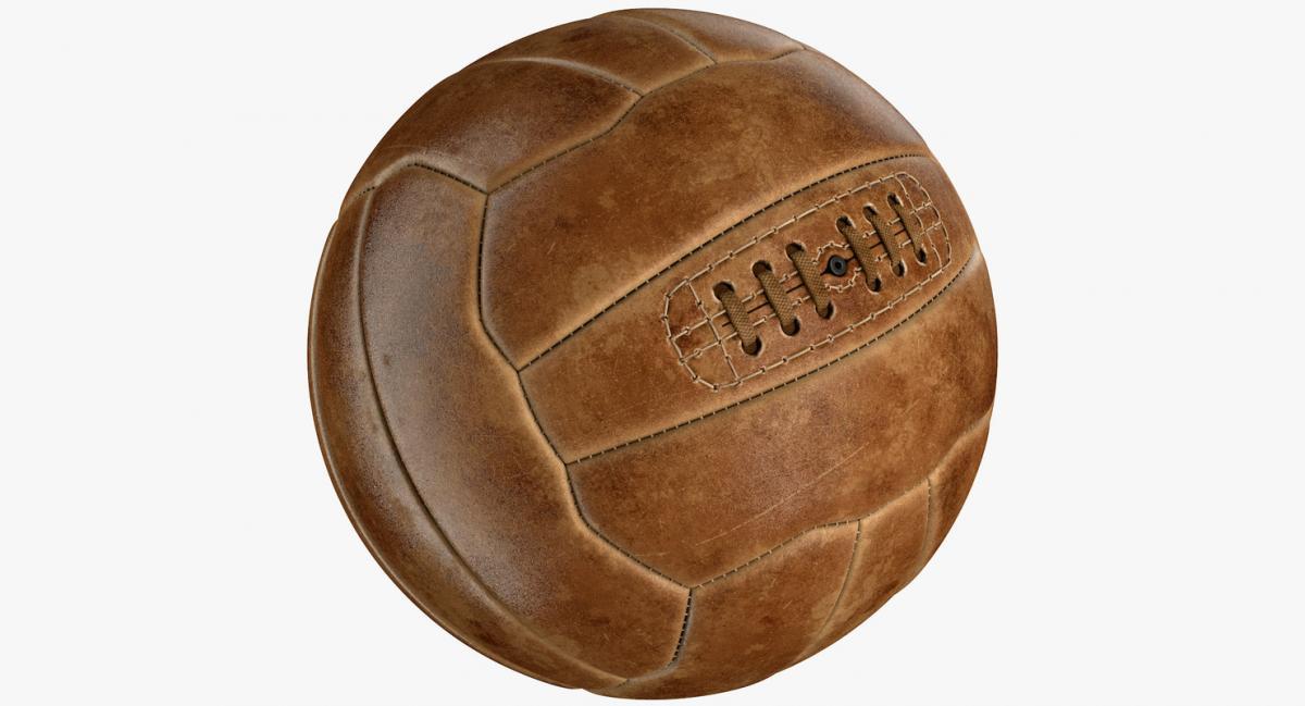 vintage soccer ball 3d model turbosquid