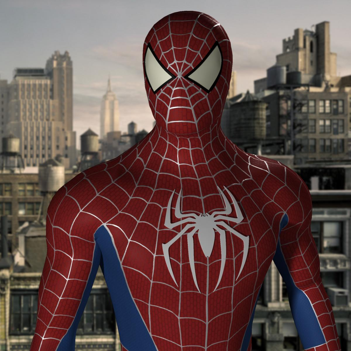 3d model of Spiderman turbosquid