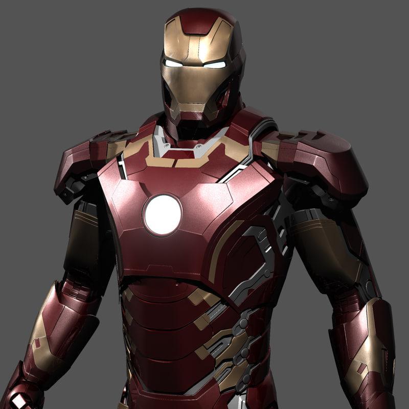 iron man age of ultron 3d model turbosquid