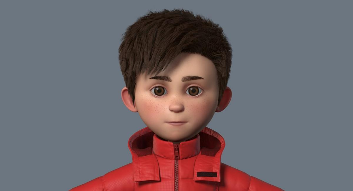 cartoon boy 3d model turbosquid
