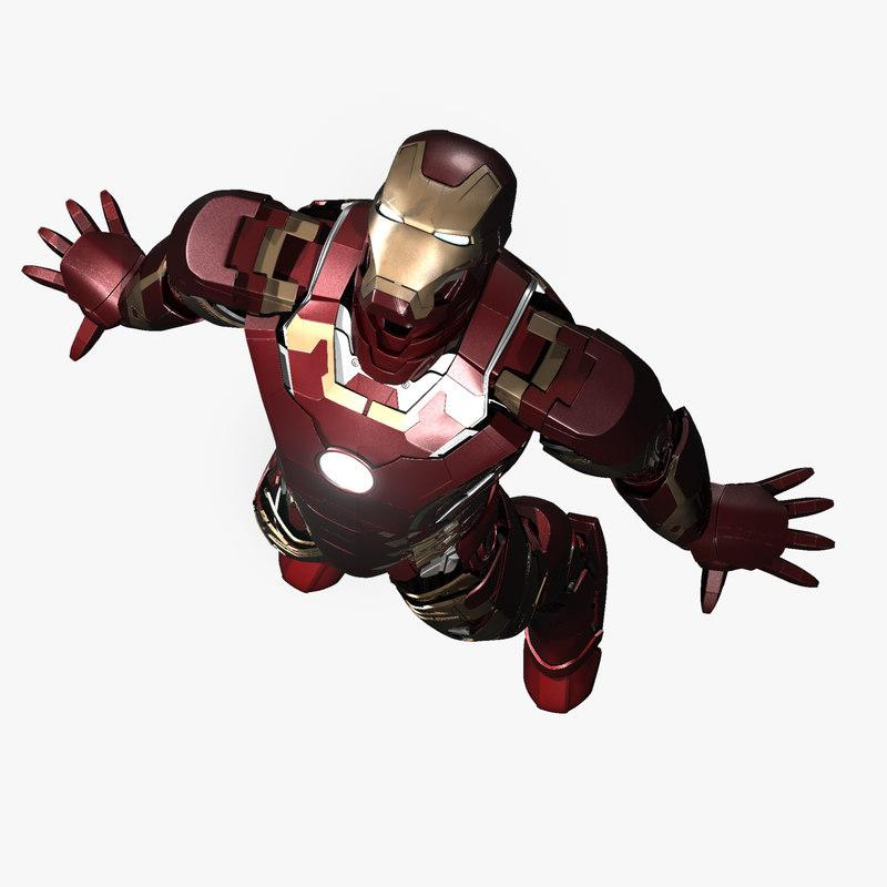iron man age of ultron flying 3d model turbosquid