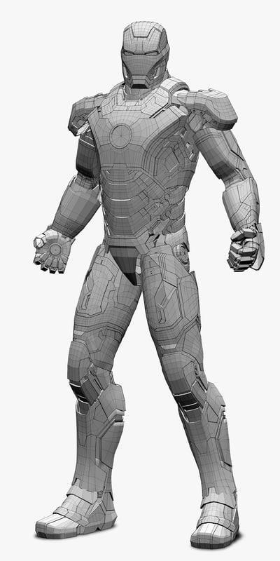 iron man wireframe 3d model turbosquid