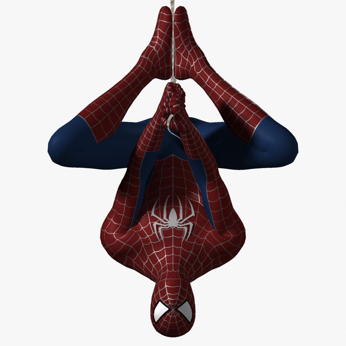 the amazing spiderman hanging pose 3d model turbosquid
