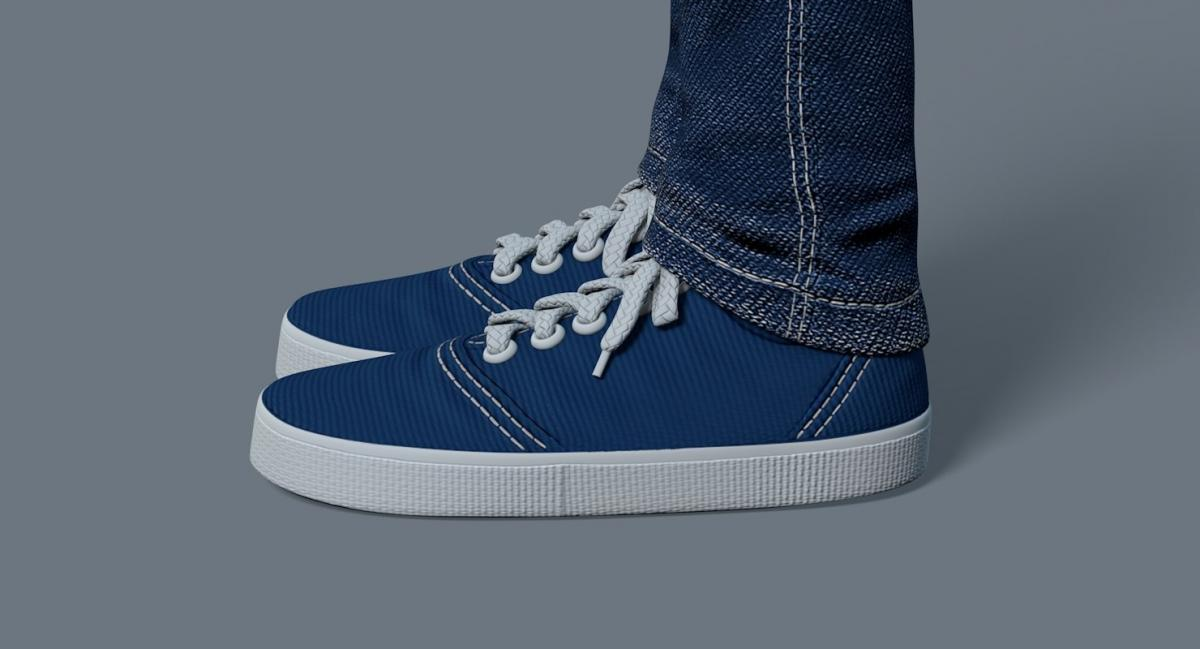 blue shoes 3d model turbosquid