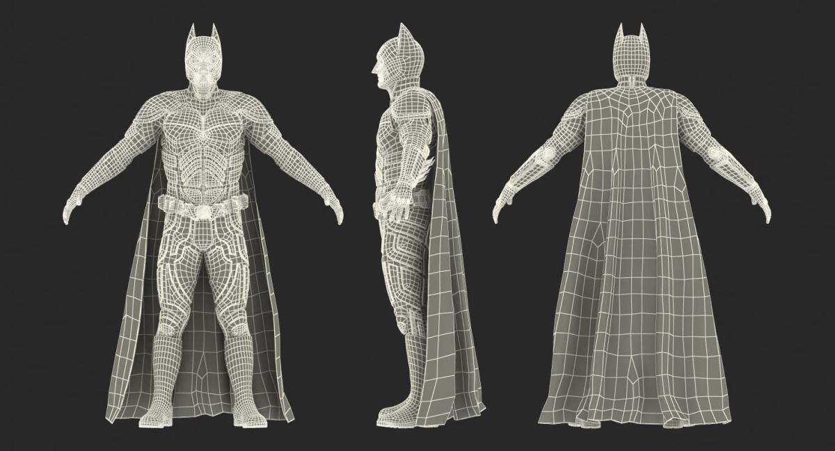 3d model of Batman