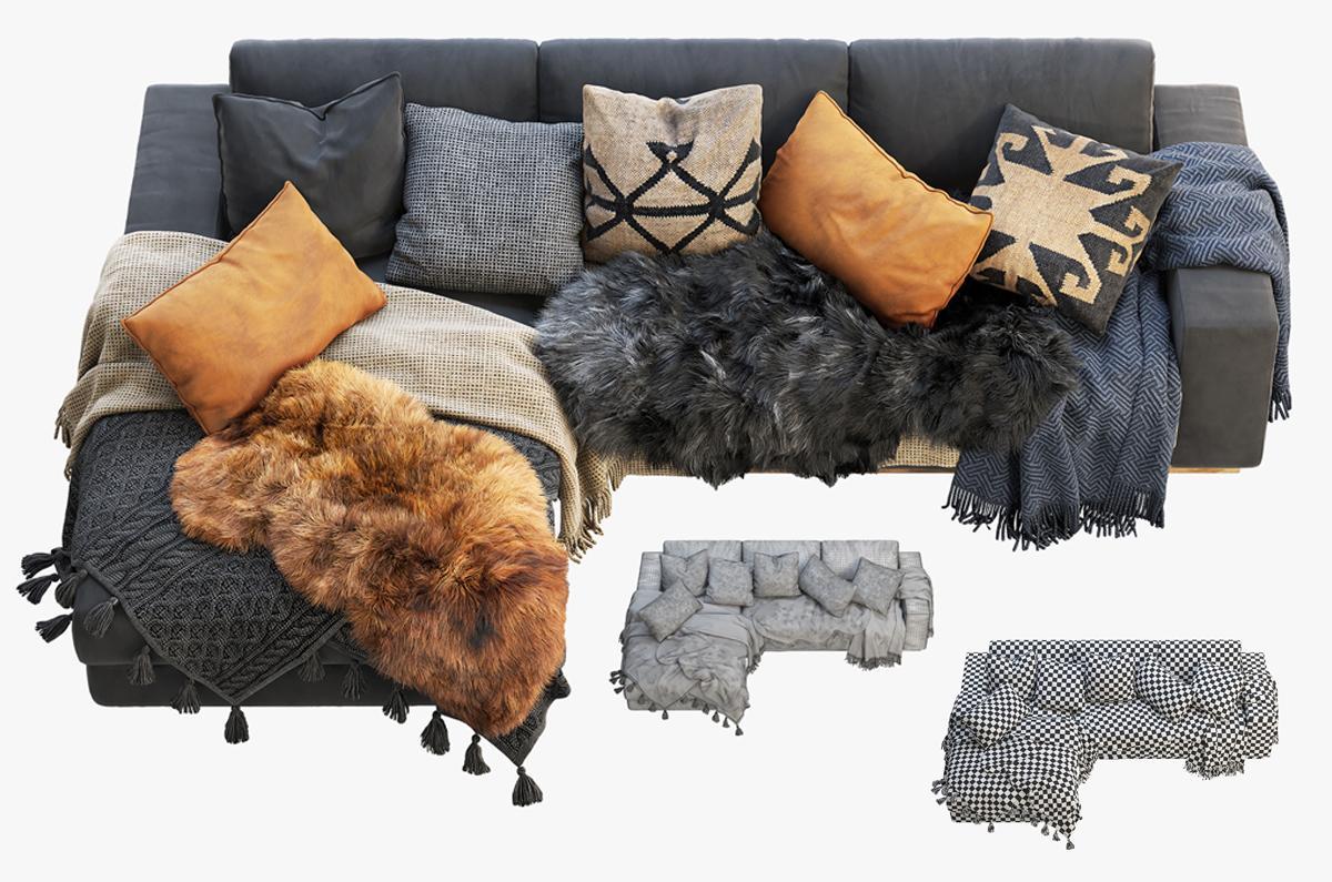 modern and Nordic design sofa 3d model turbosquid