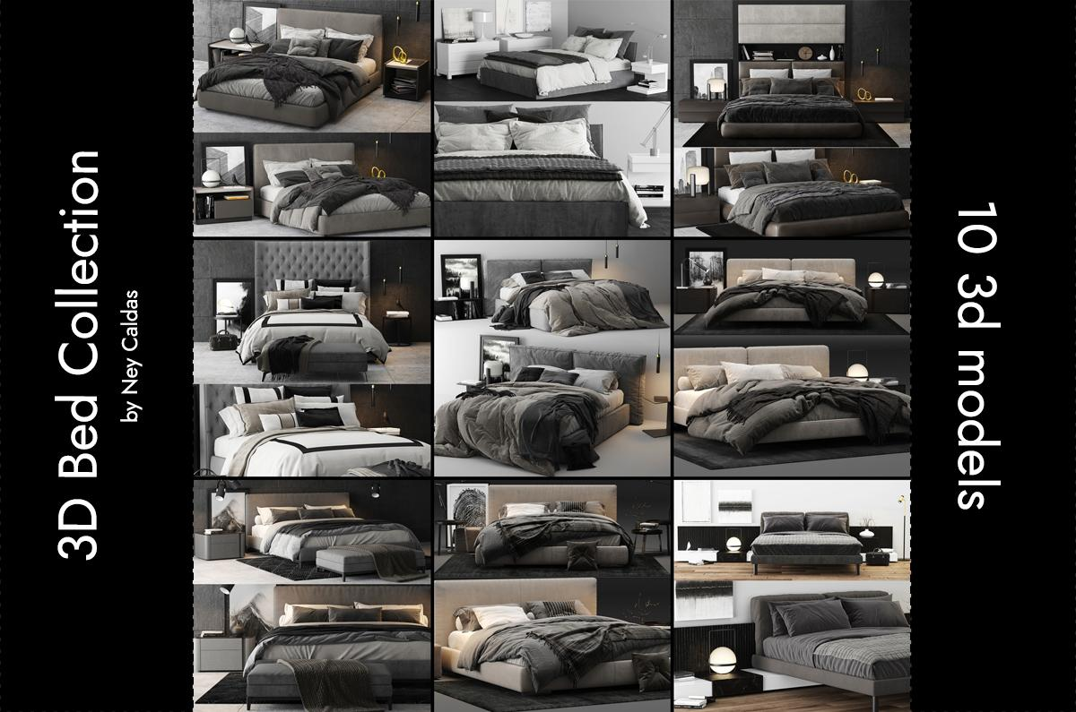 beds collection with 10 3d models turbosquid