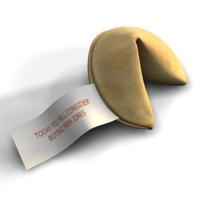 fortune cookie 3d model turbosquid