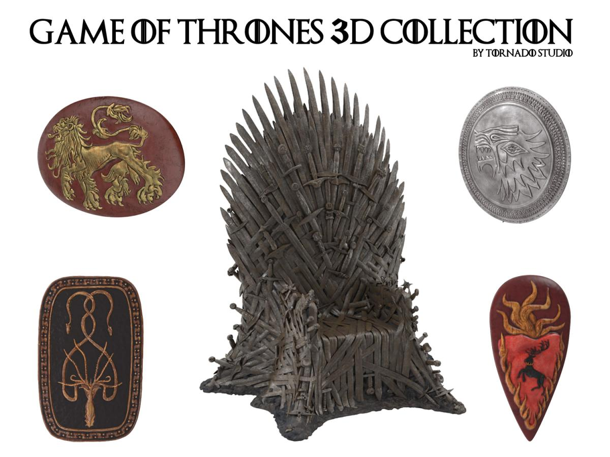 game of thrones 3d collection turbosquid