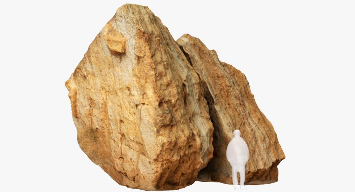 desert boulder 3d model turbosquid