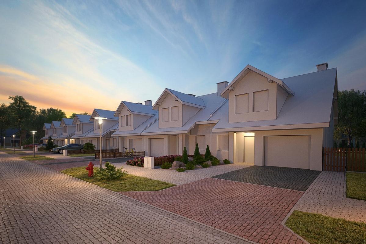 set of houses 3d models exterior evermotion collection turbosquid