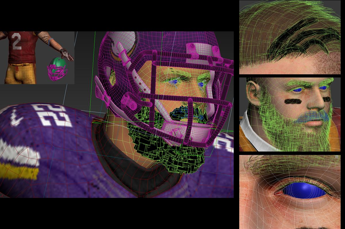 professional athlete nfl 3d model rigged and animated turbosquid