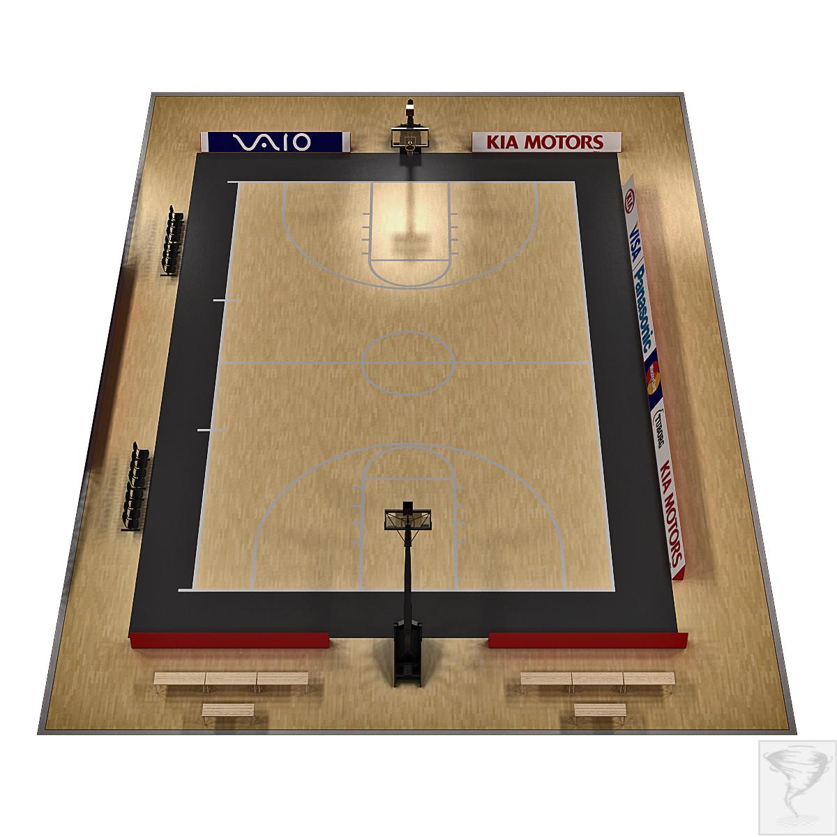 indoor basketball court 3d model turbosquid