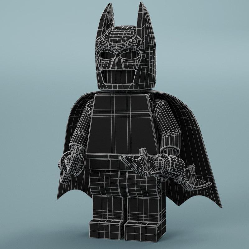 3d model of lego Batman