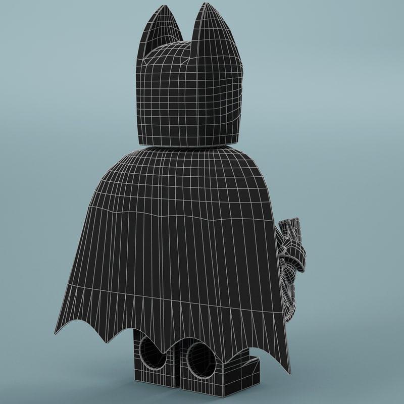 3d model of lego Batman's cape