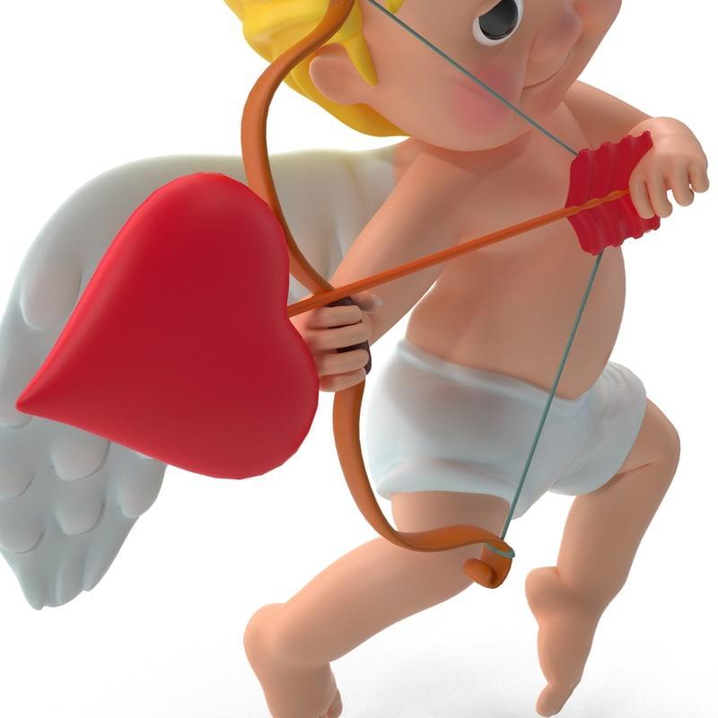 love cupid 3d model turbosquid