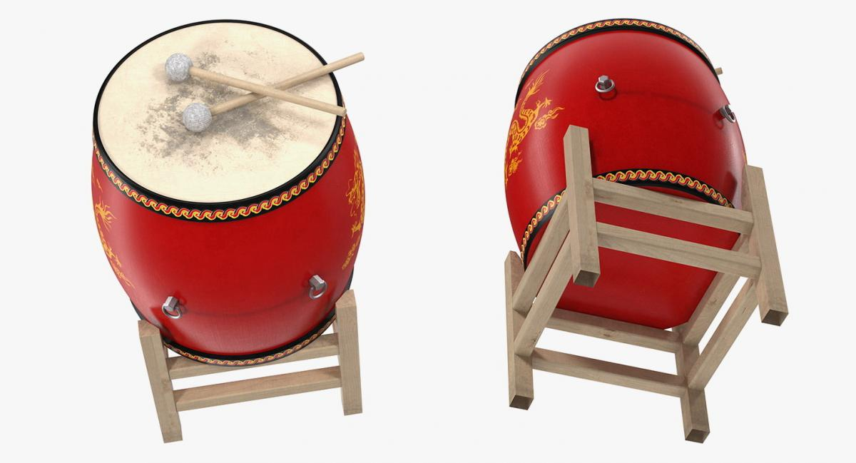 Chinese percussion musical instrument 3d model turbosquid