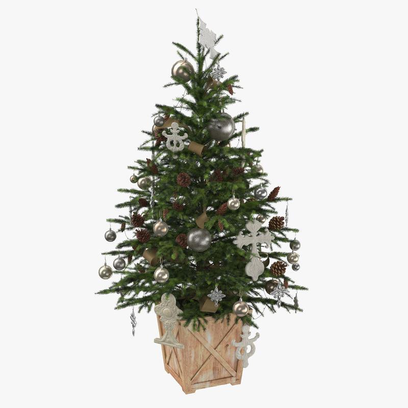christmas tree 3d model turbosquid