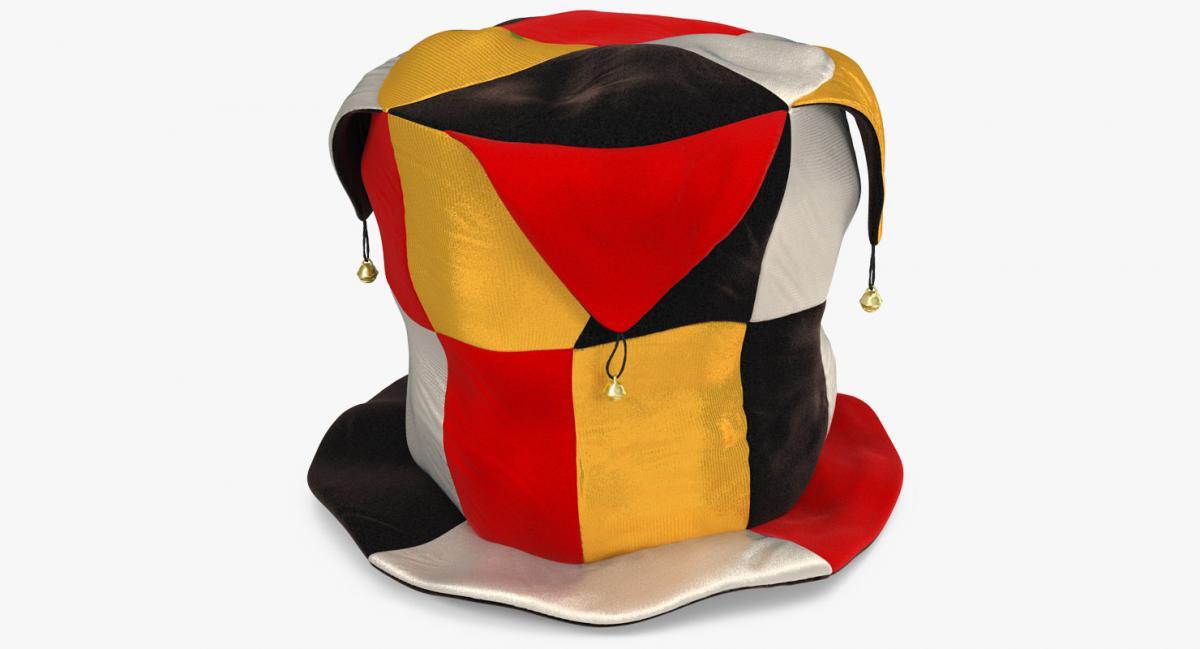 clown top hat 3d model turbosquid