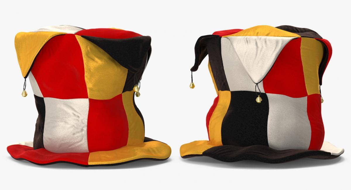 top hat with bells 3d model turbosquid