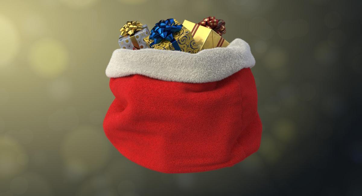 christmas bag 3d model turbosquid