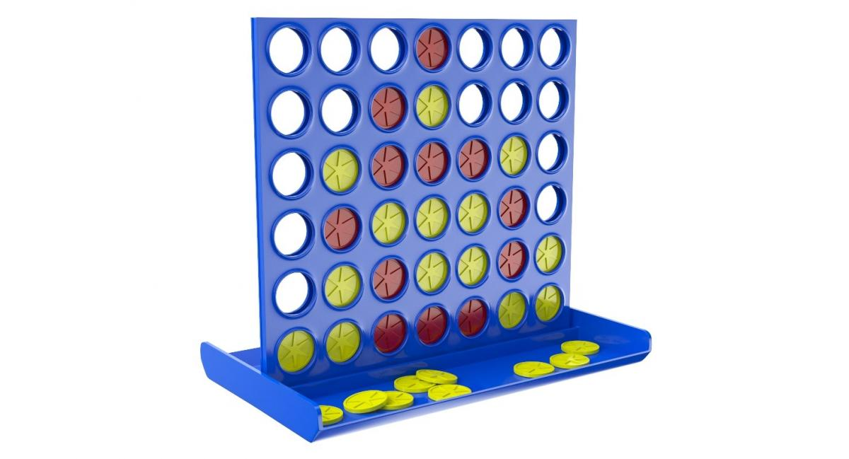 connect four kids game 3d model turbosquid