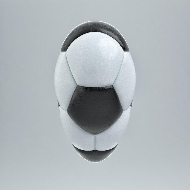 soccer heart 3d model turbosquid