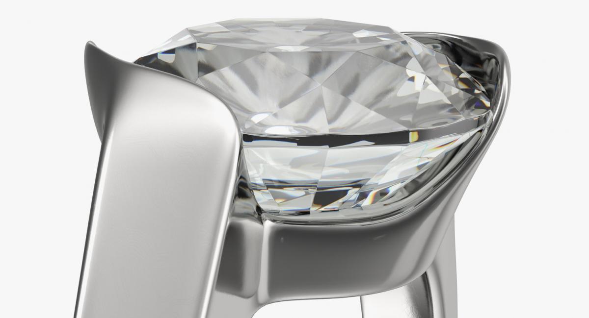 valentine ring 3d model turbosquid