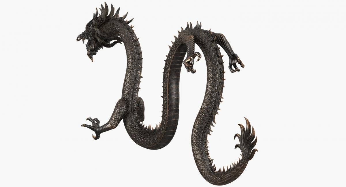 chinese dragon sculpture 3d model turbosquid