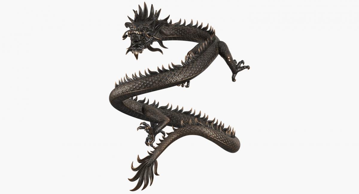 chinese power symbol 3d model turbosquid