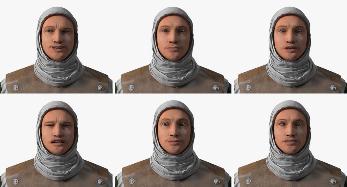 medieval man expressions 3d model turbosquid