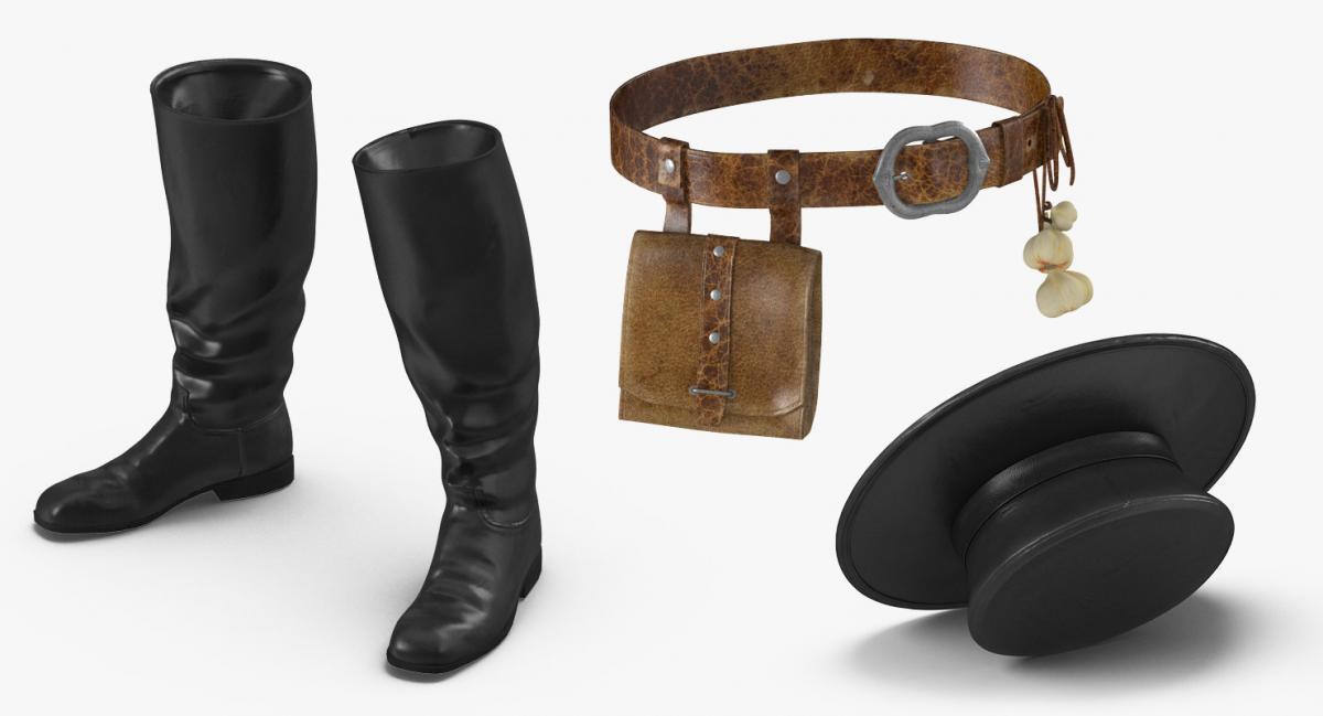 plague doctor accessories 3d model turbosquid