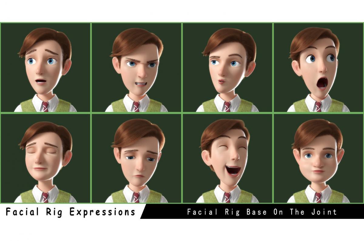 facial expressions of a man 3d model rigged turbosquid