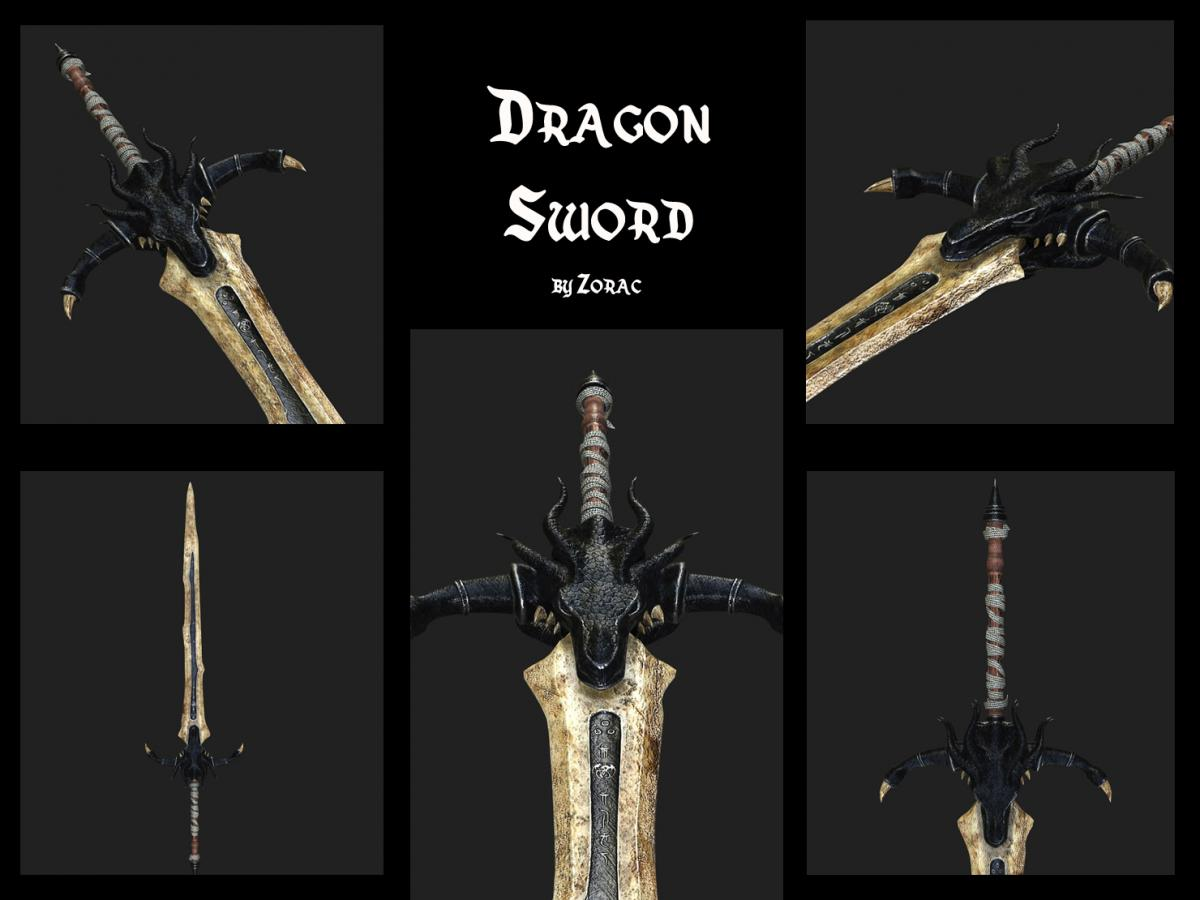 dragonsword 3d model turbosquid