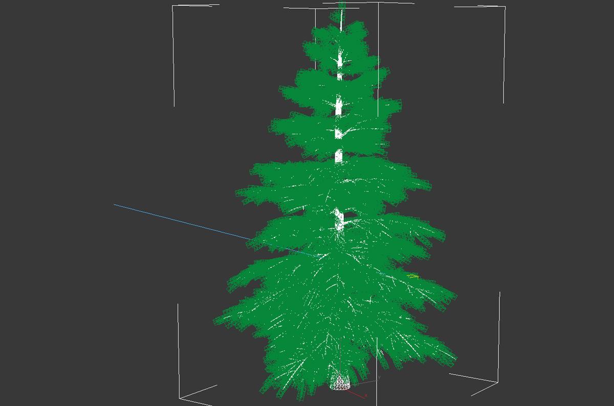 winter tree animated 3d model