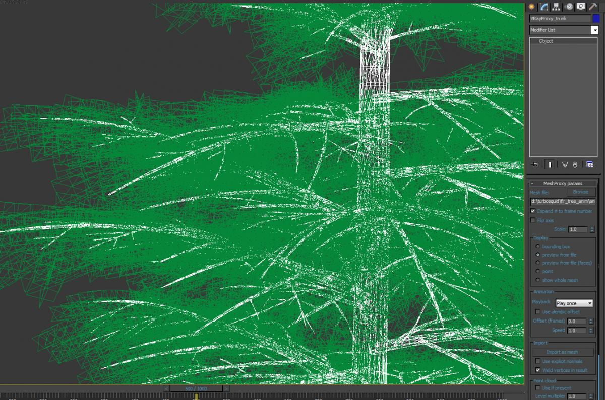 xmas tree animated 3d model