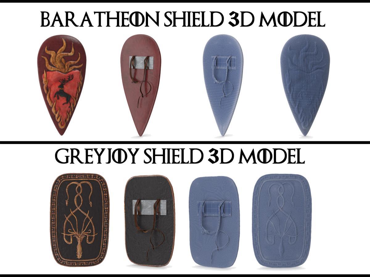 shields game of thrones 3d models turbosquid