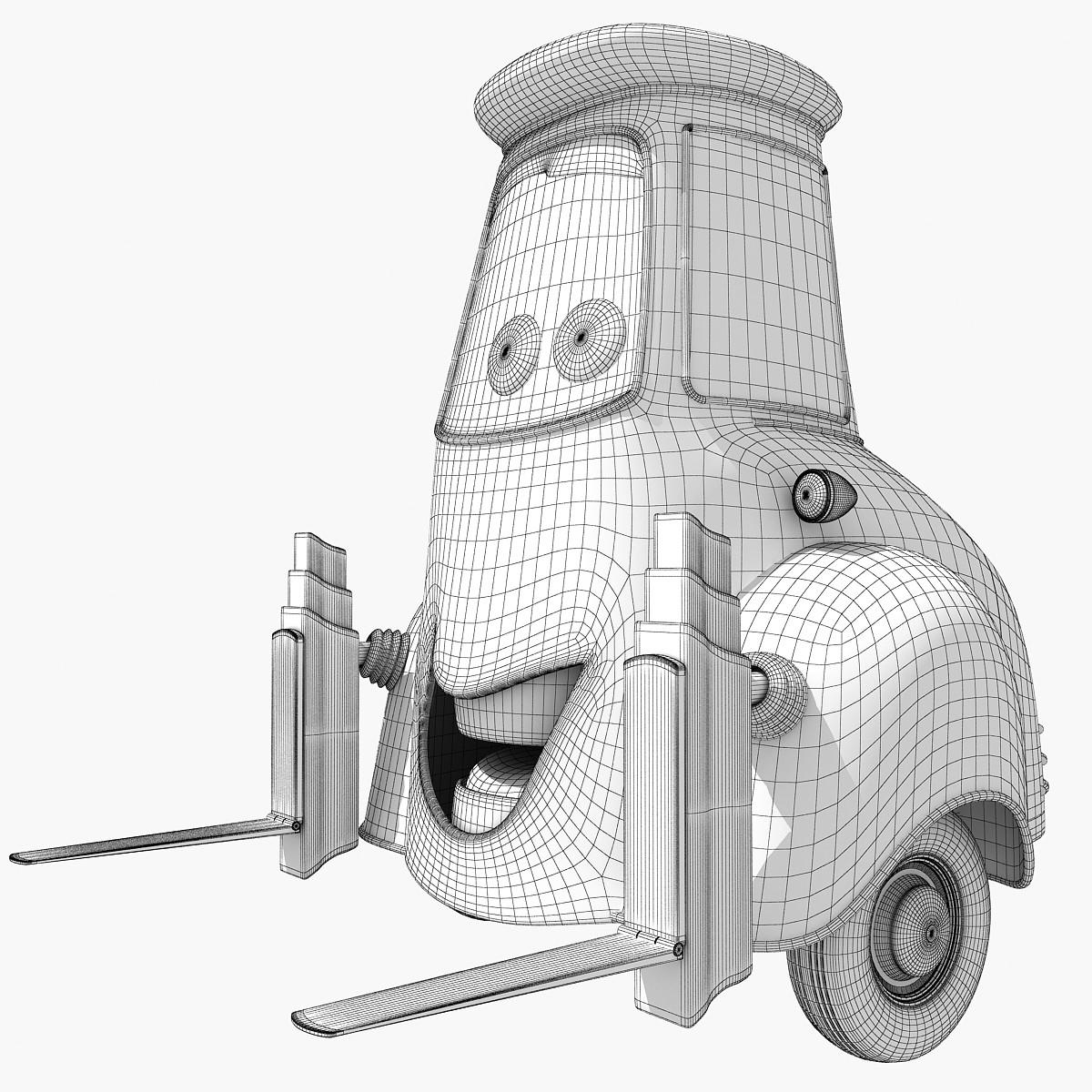 3d model of Guido from Cars2 movie