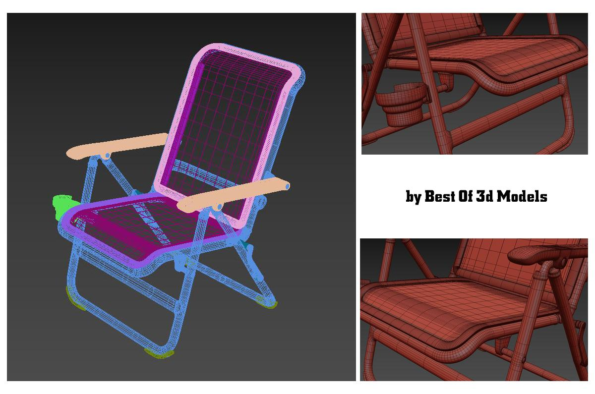 aluminium outdoor camp chair by yeti 3d model