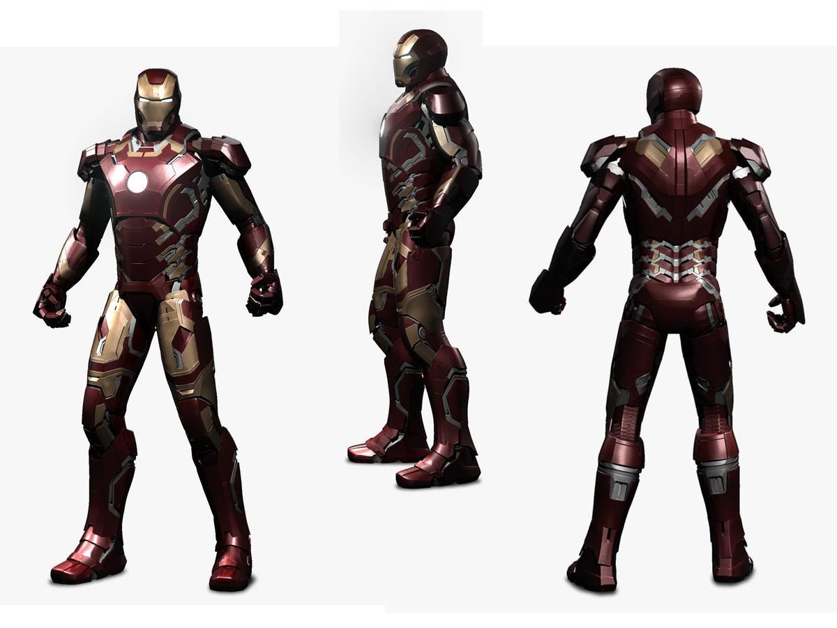 iron man avengers 3d model turbosquid
