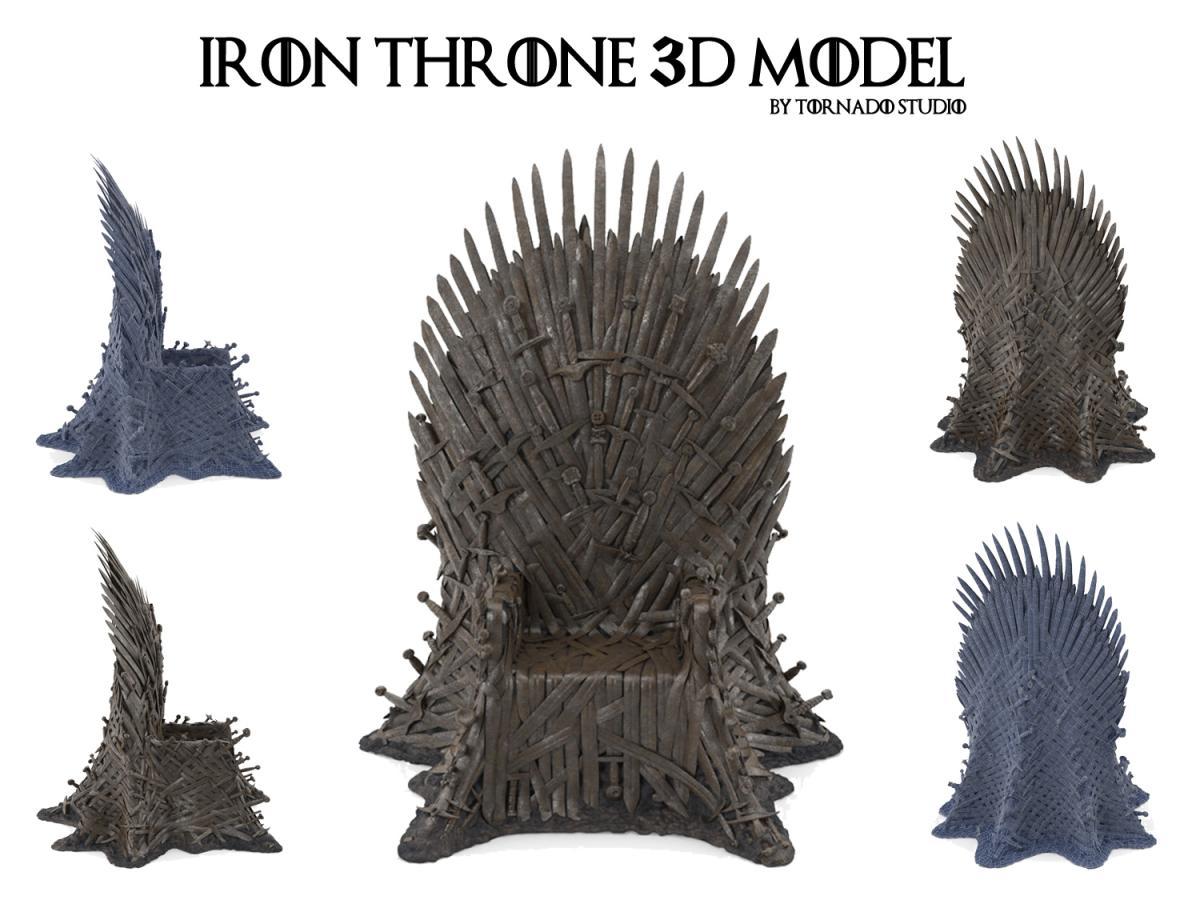 iron throne 3d model turbosquid