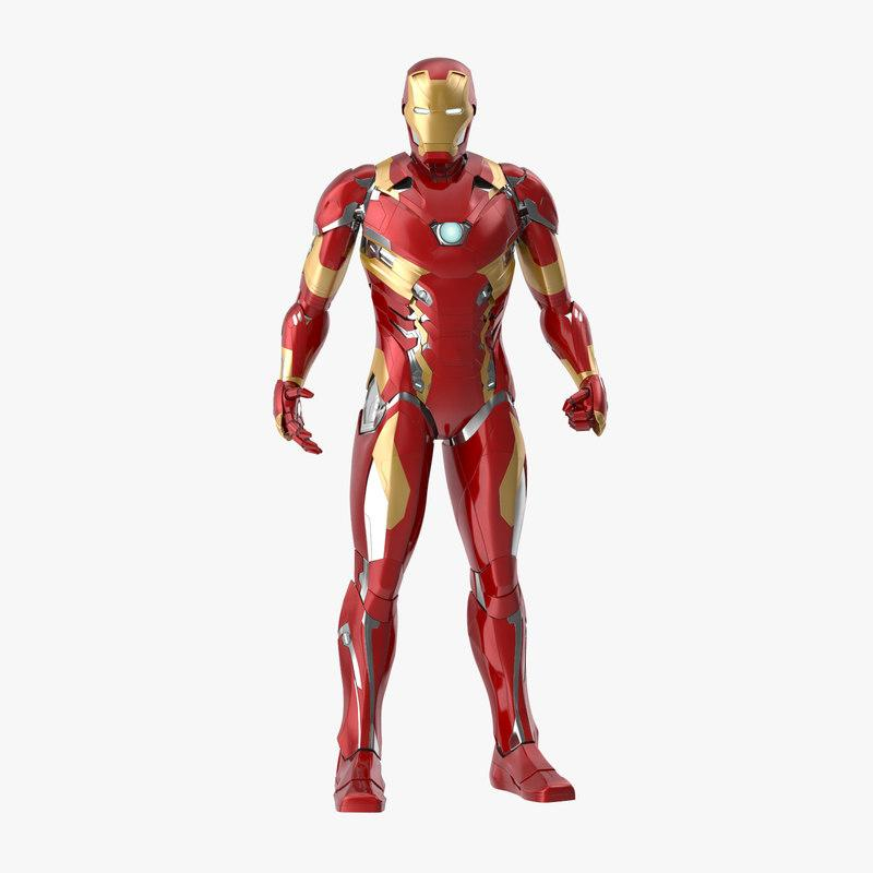 warning pose iron man 3d model turbosquid