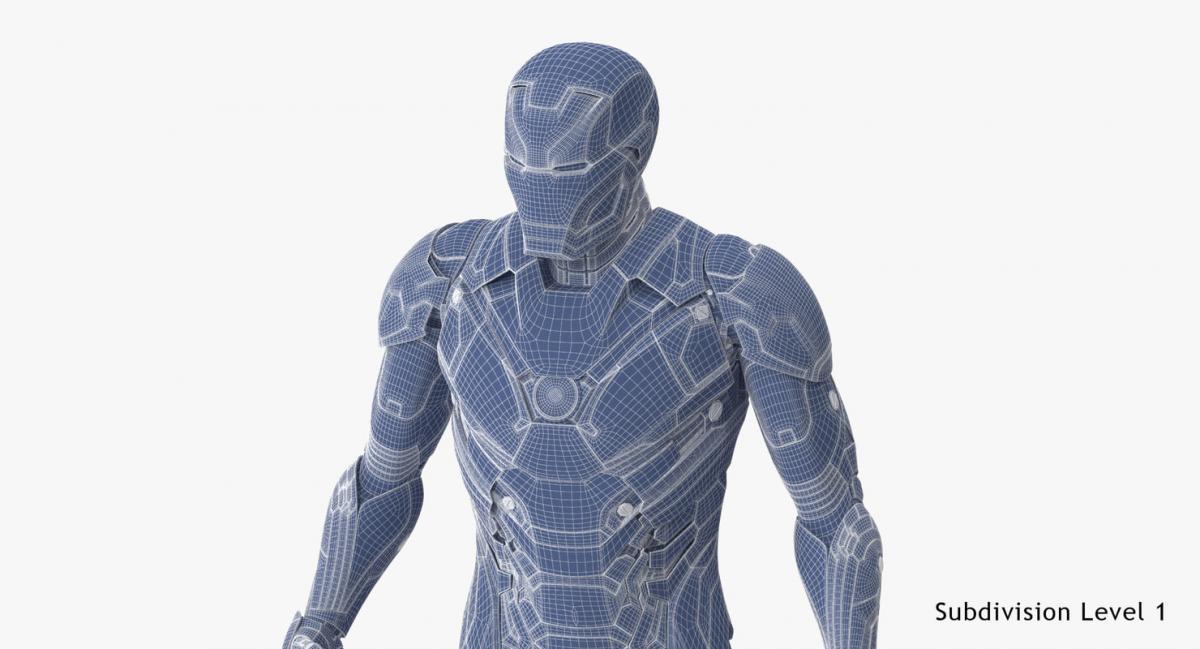 iron man full body vray 3d model turbosquid