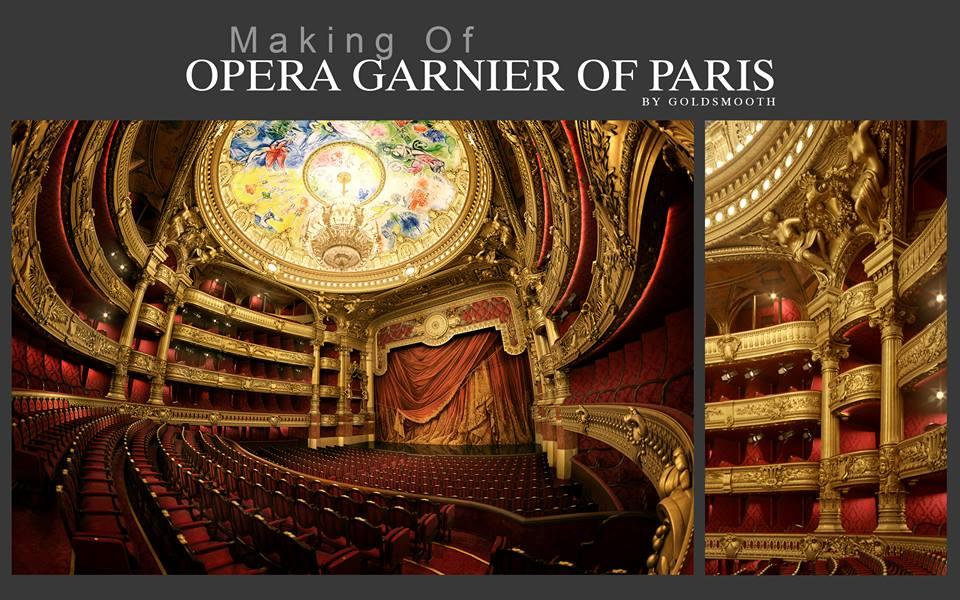 making of opera garnier of Paris 3d model turbosquid
