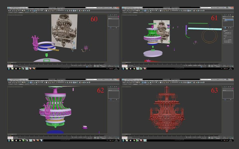 opera chandelier 3d model turbosquid