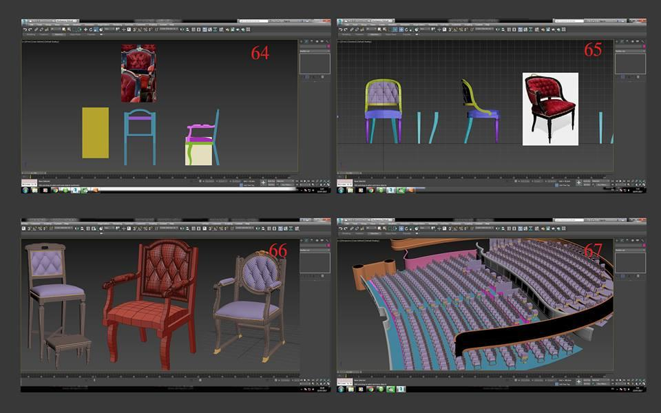opera house seats 3d model turbosquid