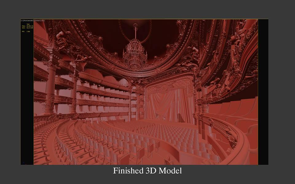 paris opera auditorium finished 3d model turbosquid